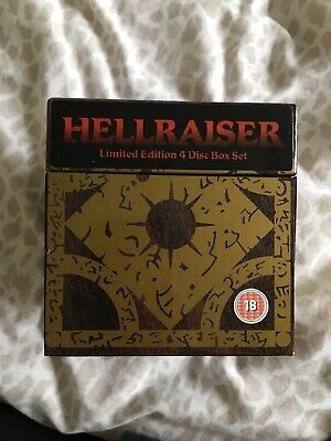 Hellraiser Limited Edition 4 Disc DVD - Collectors Puzzle Box Set In Fab Cond • 19.99£