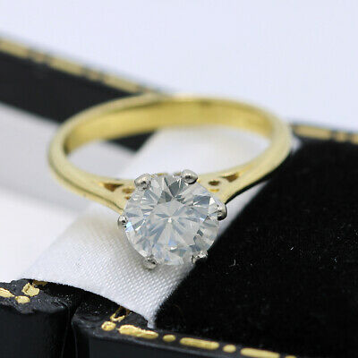 Beautiful 18ct Yellow Gold 1.20ct Solitaire Diamond Ring • 454£