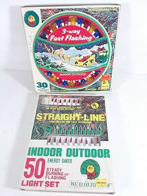 $ CDN16.32 • Buy Vintage Foremost Industries Christmas Lights Miniature Indoor Outdoor Flashing