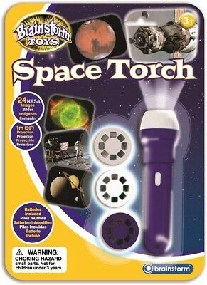 Space Projector Torch Wall Ceiling Planets Astronauts Childrens Fun Toy Gift • 11.99£