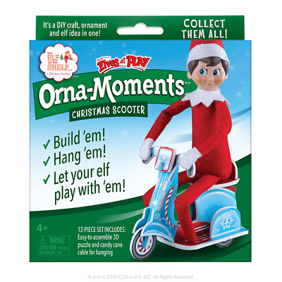 AU18.95 • Buy Elf On The Shelf-Scout Elves At Play - Orna-Moments CHRISTMAS SCOOTER