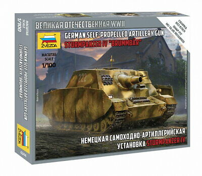 AU10 • Buy Zvezda 1/100 WWII German Sturmpanzer IV  Brummbar  Assault Gun
