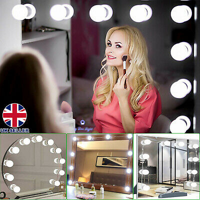 Hollywood LED Vanity Mirror Lights Kit 10 Dimmable Bulbs For Makeup Dressing PE • 11.75£