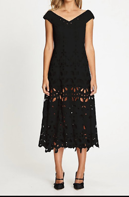 AU120 • Buy Bnwt Alice Mccall Black Baudelaire Midi Dress - Size 4 Au/0 Us (rrp $550)