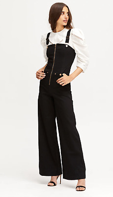 AU150 • Buy Bnwt Alice Mccall Black Quincy Denim Overalls - Size 4 Au/0 Us (rrp $320)