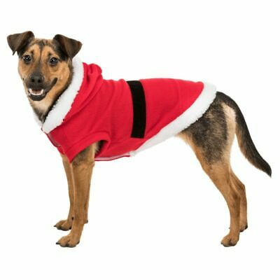 Pet Dog Puppy Cat Santa Claus Costume Warm Coats Outfits Fun Christmas Cosplay • 5.49£
