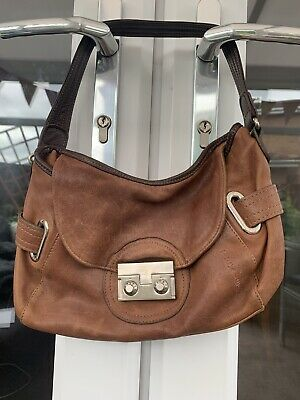 Texier Leather Bag Tan With Brown Strap Small • 4.10£