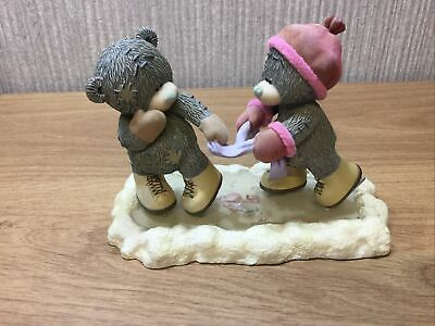 Me To You Bear Figurine Ornament Rare Retired Hold On Tight Ice Skating Large • 26.95£