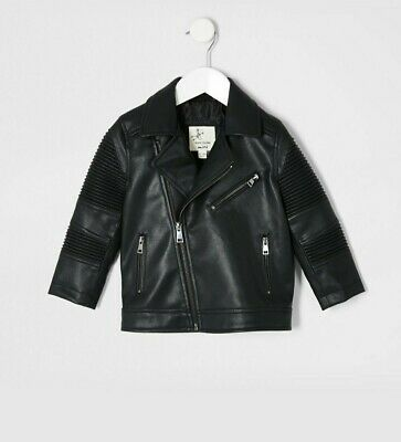 River Island Leather Jacket 12-18 Months (still In Stores For £35) • 22£