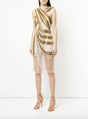 AU110 • Buy Bnwot Alice Mccall Gold Surrealist Dress - Size 6 Au/2 Us (rrp $450)