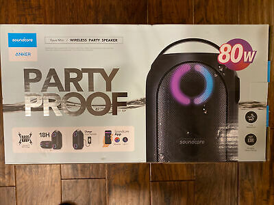AU175.54 • Buy Anker Soundcore AK-A3390Z11 Rave Mini Portable Party Speaker, Huge 80W Sound LN™