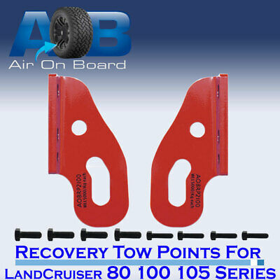 AU85 • Buy Recovery Towing Point RED For Toyota LandCruiser 80 100 105 Series Heavy Duty