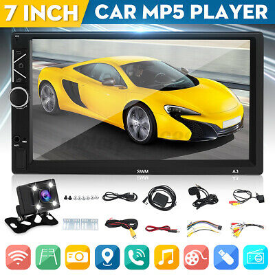 AU113.99 • Buy 7  2Din Android 8.1 Car Stereo MP5 Player FM Radio GPS WiFi BT Head Unit