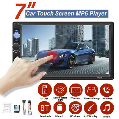 AU54.99 • Buy 7'' Double 2 DIN Touch Screen Car Stereo Radio MP5 Player Bluetooth FM USB