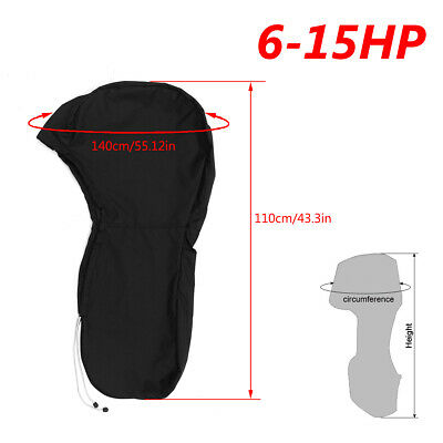 AU24.43 • Buy 420D Oxford Fabric Full Body Outboard Engine Boat Motor Cover Fit Up To 6HP-15HP
