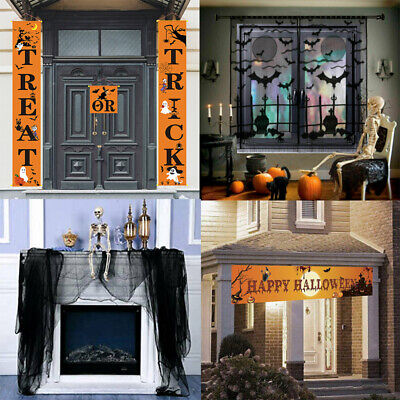 Halloween Creepy Lace Table Cloth Curtain Fireplace Window Door Party Decoration • 7.99£