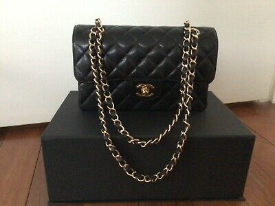 AU9500 • Buy CHANEL SMALL CLASSIC FLAP - In Caviar Leather With Gold Hardware