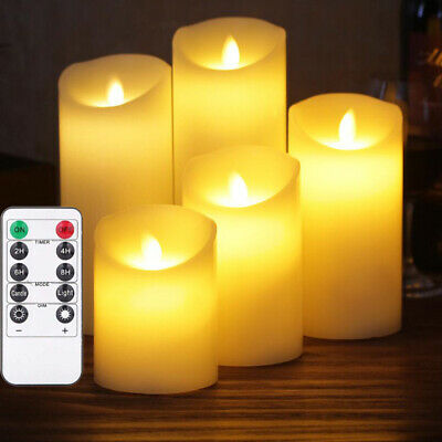 Remote Control Flameless Wax LED Flickering Candles Dancing Battery Candle Light • 8.87£