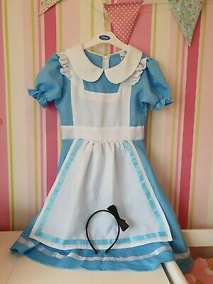 Used Girls Halloween Costume Fancy Dress World Book Day Alice In Wonderland 7-9 • 3.99£