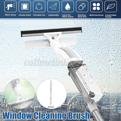 Telescopic Window Glass Cleaner Microfibre Squeegee Conservatory Mirror Spray  • 14.99£
