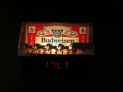 $ CDN95.50 • Buy BUDWEISERLIGHTED BAR SIGN &  CLOCK Champion Clydesdale Team 1980