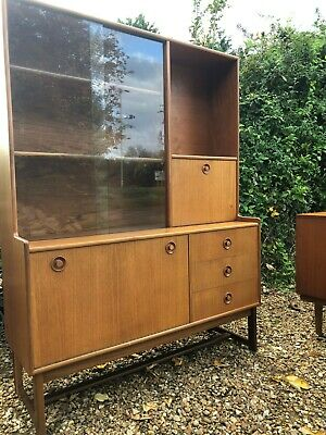 Vintage Retro Turnidge Teak Display Cabinet Mid Century Drinks Cabinet Bureau  • 85£
