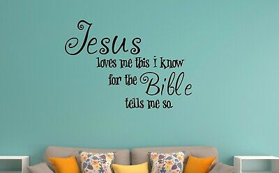 Wall Stickers Jesus Loves Me Christian Verse • 11.99£