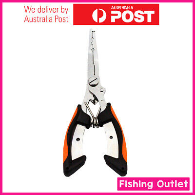 AU12.90 • Buy Fishing Pliers Snips Scissors Line Cutter Tackle Trace Split Ring Tool Remover