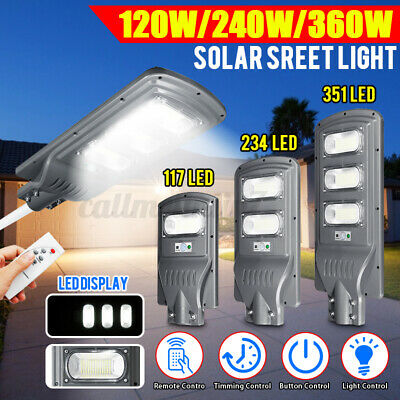 120/240/360W 36000LM LED Solar Street Light PIR Motion Sensor Wall Lamp Outdoor • 31.34£