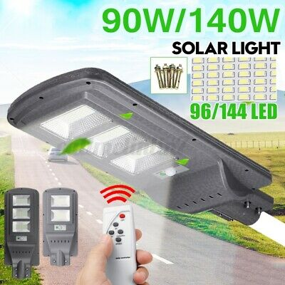 90W 140W Solar Street Light Motion Remote Roat Street Wall Lamp Home Garden • 34.51£