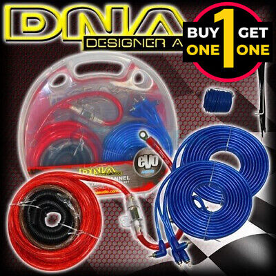 AU59.95 • Buy Black Friday DNA 4 Channel 1200W Power Amplifier AMP Wiring Kit Cable 2 For 1