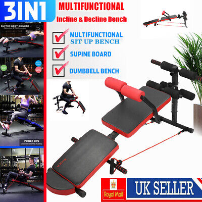 Foldable Weight Bench Press Workout Fitness Exercise Gym Incline &Decline Sit Up • 50.99£