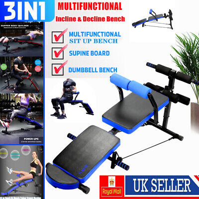 Adjustable Foldable Sit Up Bench Home Gym Exercise Fitness Multi Decline Bench • 50.59£