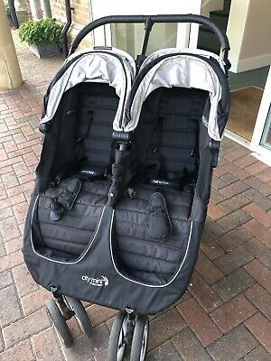 Baby Jogger City Mini Double Pushchair - Black • 100£