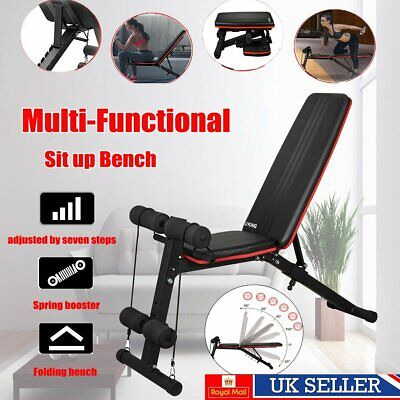 Weight Bench Multi Adjustable Gym Workout Exercise Flat Incline Decline Sit Up • 49.99£
