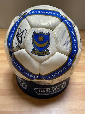 REDUCED Portsmouth FC Barclays Premier League Signed Football FREE POSTAGE • 40£