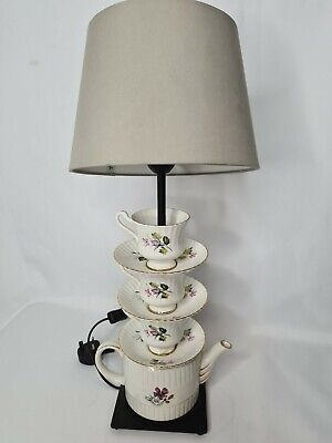 Teapot Saucer Tea Party Stacking Table Lamp Quirky Shabby Chic  • 78.99£