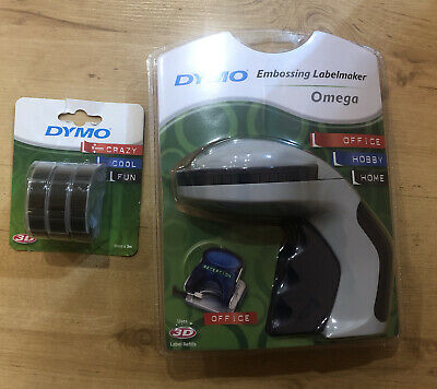 Dymo Embossed Label Maker Adhesive And 3 Packs Embossing Black Tape (9 Tapes) • 22.99£