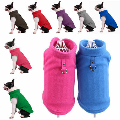 UK Small Dog Pet Winter Soft Warm Jacket Coat Fleece Clothes Cute Coat Sweater • 3.84£