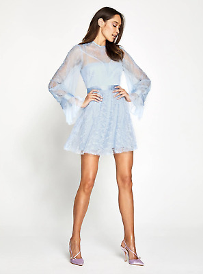 AU250 • Buy Bnwot Alice Mccall Dove Blue Craft Mini Dress Sample - Size 8 Au/4 Us (rrp $395)