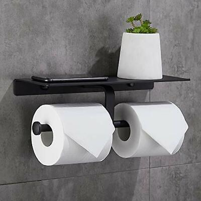 Gricol Double Toilet Paper Holder With Spacious Shelf Toilet Roll TissueHolder • 22.99£