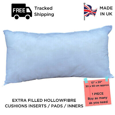 12 X 20 Rectangle Oblong Hollow Fibre Plump Cushion Inners Fillers Inserts Pads  • 4.99£