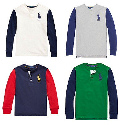 Genuine Boys Ralph Lauren Big Pony Hoodie Top T Shirt - Factory Surplus Outlet • 12.79£