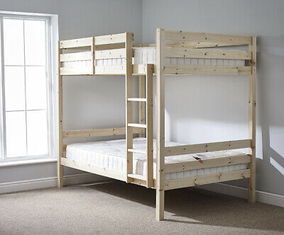 £269.95 • Buy Everest 4ft 6 DOUBLE HEAVY DUTY Solid Pine  Bunk Bed (EB9)