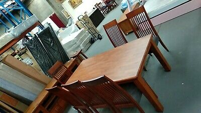 AU599 • Buy $$ Clearance $$ 1.8m Dining Table 6x Dining Chairs | Postage $50 Within Melb.