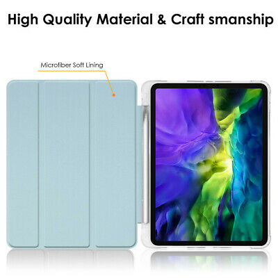 AU25.95 • Buy IPad Pro 11/12.9  Case 2020/2018 Shockproof Silicon Smart Cover With Pen Holder