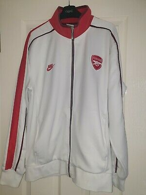 Arsenal White XL Track Jacket • 5£