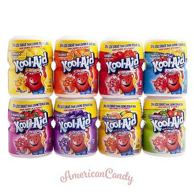USA: 1x Kool Aid Barrel 538g (Lemonade Cherry, Grape, Tropical, Strawberry Kiwi) • 7.25£