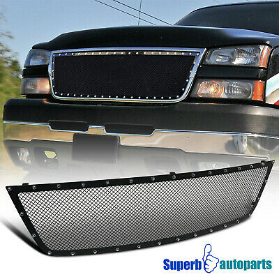 $104.98 • Buy For 2005-2007 Silverado 1500HD 2500HD 3500 Upper Hood Grille Insert Rivet Style