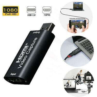 HDMI To USB Video Capture Card 1080P Recorder For Video Live Streaming Portable • 8.49£